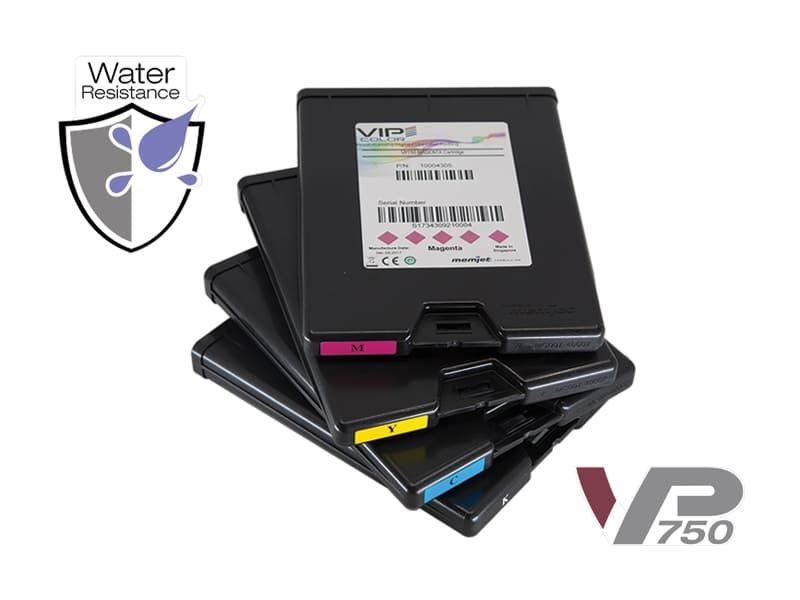 Encres Jet d'encre VP750 (résistance à l'eau)