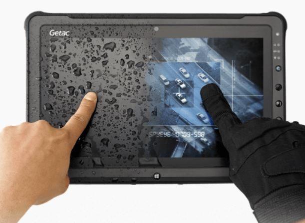 Tablette durcie GETAC F110 (Version Digitizer en option pour plus de précision)