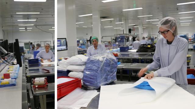 Medline : Une usine qui fabrique les trousses des chirurgiens